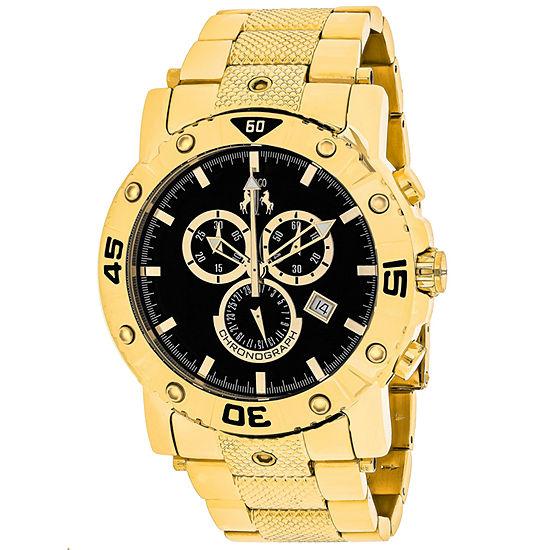 Jivago Mens Gold Tone Stainless Steel Bracelet Watch-Jv9124xl