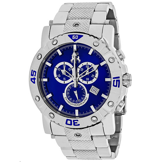 Jivago Mens Silver Tone Stainless Steel Bracelet Watch-Jv9125xl