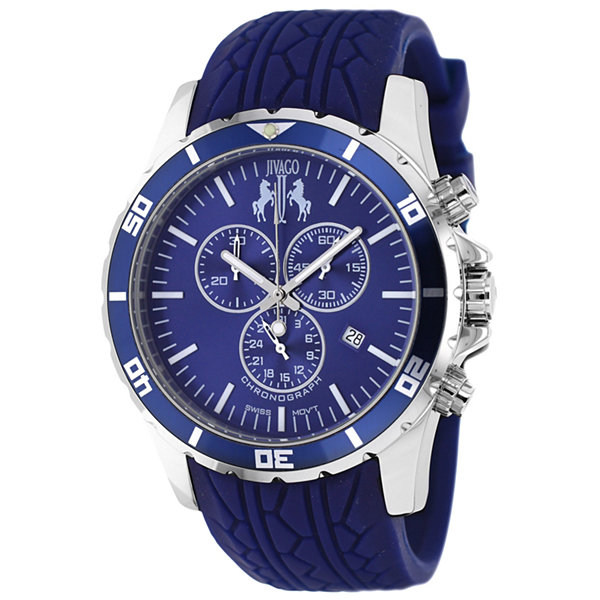 Jivago Mens Blue Strap Watch-Jv0125