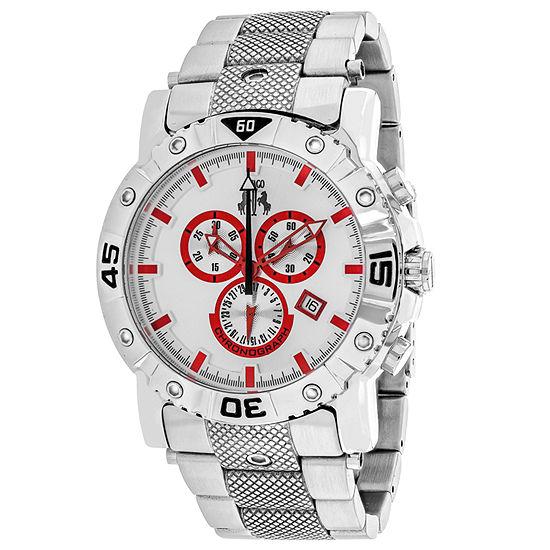 Jivago Mens Silver Tone Stainless Steel Bracelet Watch-Jv9128xl