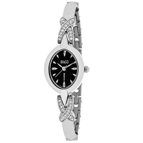 Jivago Womens Silver Tone Bracelet Watch-Jv3610