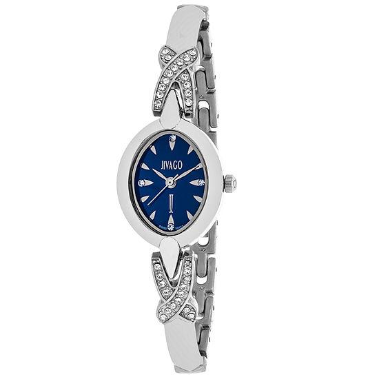 Jivago Womens Silver Tone Stainless Steel Bracelet Watch-Jv3611