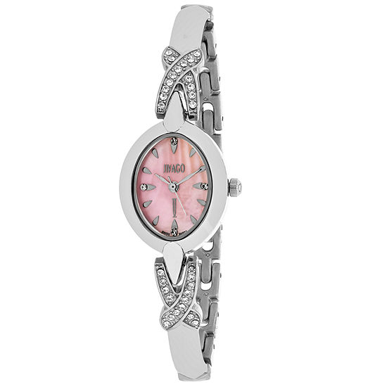 Jivago Womens Silver Tone Stainless Steel Bracelet Watch-Jv3612