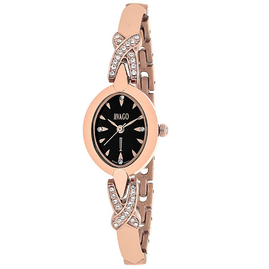 Jivago Womens Rose Goldtone Stainless Steel Bracelet Watch-Jv3613