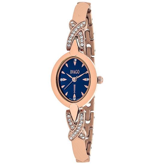 Jivago Womens Rose Goldtone Bracelet Watch-Jv3614