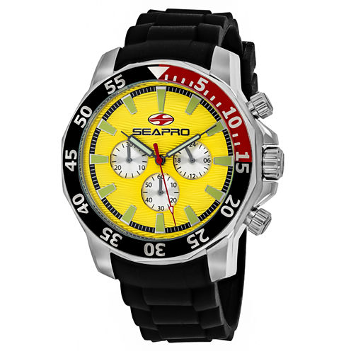 Sea-Pro Scuba Explorer Mens Black Strap Watch-Sp8333
