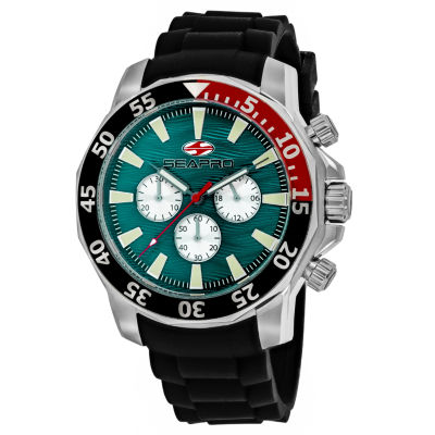 Sea-Pro Scuba Explorer Mens Black Strap Watch-Sp8334