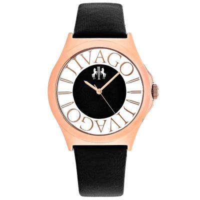 Jivago Womens Black Strap Watch-Jv8431