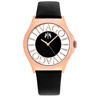 Jivago Womens Black Strap Watch-Jv8431