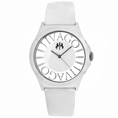 Jivago Womens White Strap Watch-Jv8433