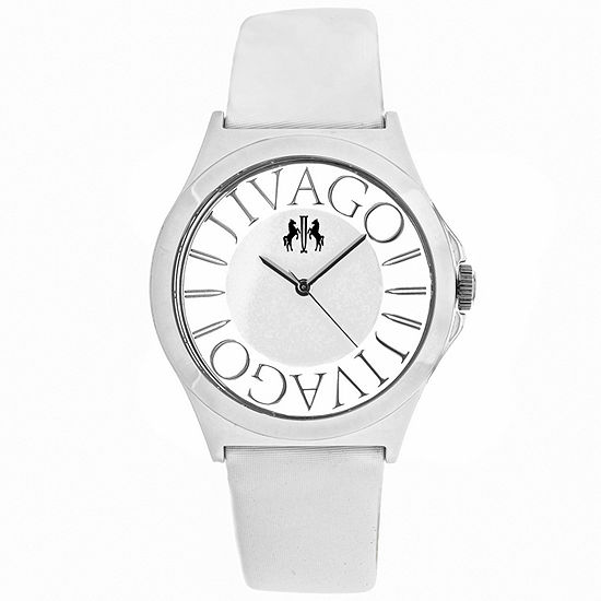 Jivago Womens White Strap Watch-Jv8433