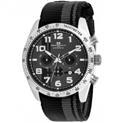 Oceanaut Mens Black Strap Watch-Oc3520