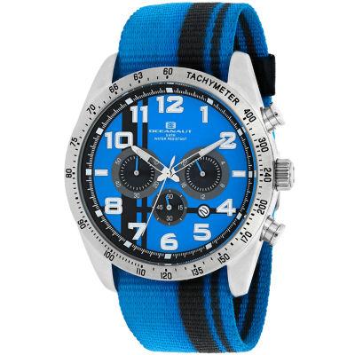 Oceanaut Mens Blue Strap Watch-Oc3522
