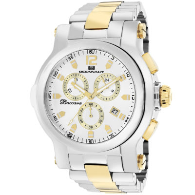 Oceanaut Mens Two Tone Bracelet Watch-Oc0823