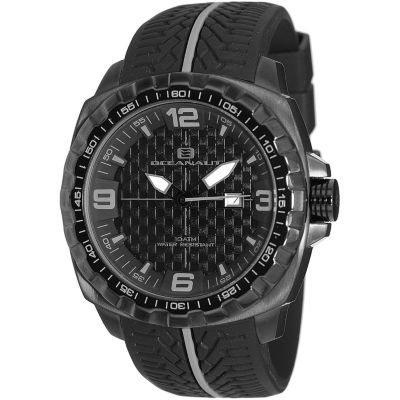 Oceanaut Mens Black Strap Watch-Oc1113