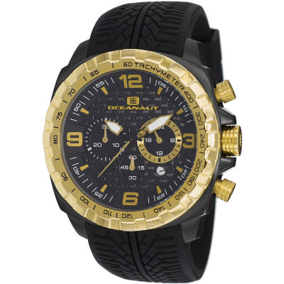 Oceanaut Mens Black Strap Watch-Oc1122