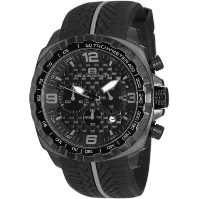 Oceanaut Mens Black Strap Watch-Oc1123