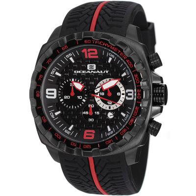 Oceanaut Mens Black Strap Watch-Oc1127