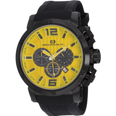 Oceanaut Mens Black Strap Watch-Oc2126