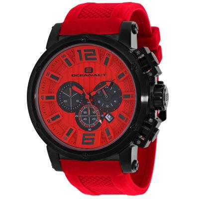 Oceanaut Mens Red Strap Watch-Oc2142
