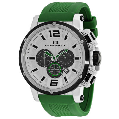 Oceanaut Mens Green Strap Watch-Oc2143
