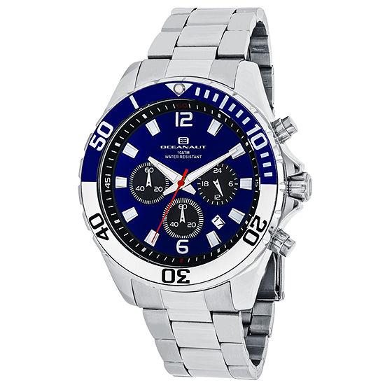 Oceanaut Mens Silver Tone Stainless Steel Bracelet Watch-Oc2520