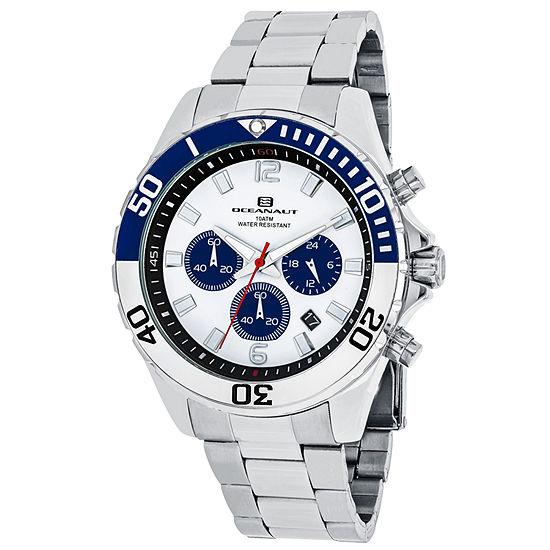 Oceanaut Mens Silver Tone Stainless Steel Bracelet Watch-Oc2521