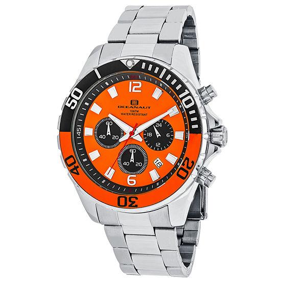 Oceanaut Mens Silver Tone Stainless Steel Bracelet Watch-Oc2522