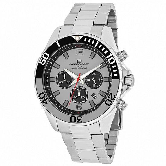 Oceanaut Mens Silver Tone Stainless Steel Bracelet Watch-Oc2523