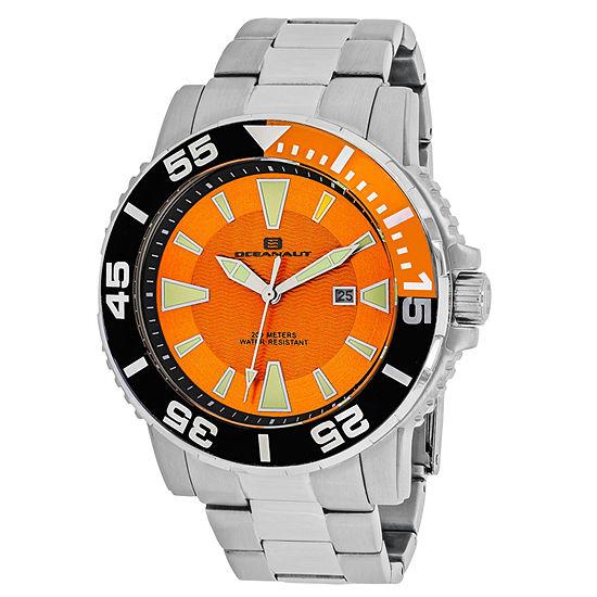 Oceanaut Mens Silver Tone Stainless Steel Bracelet Watch-Oc2910