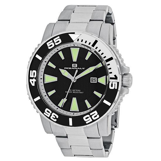 Oceanaut Mens Silver Tone Stainless Steel Bracelet Watch-Oc2911
