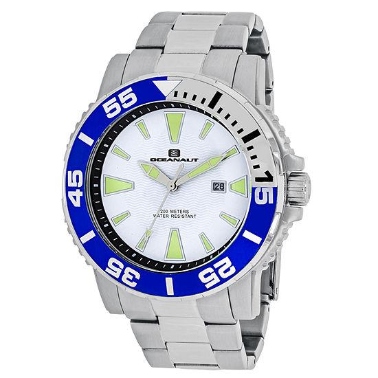 Oceanaut Mens Silver Tone Stainless Steel Bracelet Watch-Oc2912