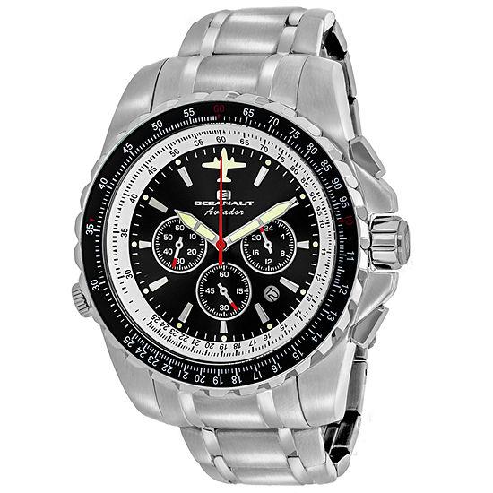 Oceanaut Mens Silver Tone Stainless Steel Bracelet Watch-Oc0111