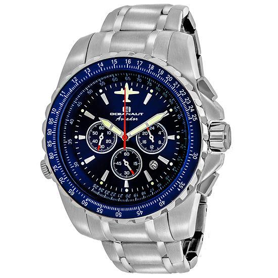 Oceanaut Mens Silver Tone Stainless Steel Bracelet Watch-Oc0114