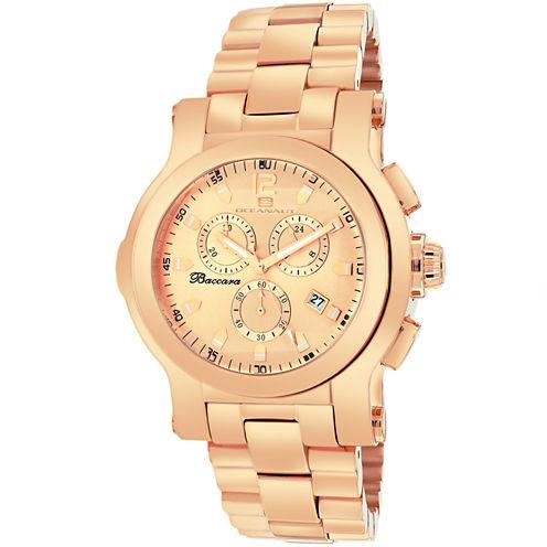Oceanaut Mens Rose Goldtone Bracelet Watch-Oc0722
