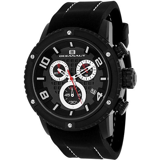 Oceanaut Mens Black Leather Strap Watch-Oc3124r