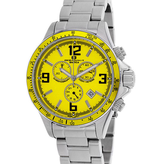 Oceanaut Mens Silver Tone Stainless Steel Bracelet Watch-Oc3324