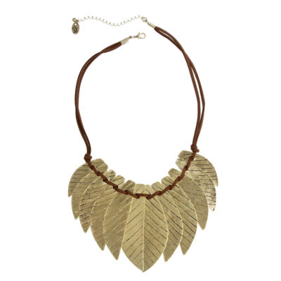 EL by Erica Lyons Womens Gold Over Brass Collar Necklace