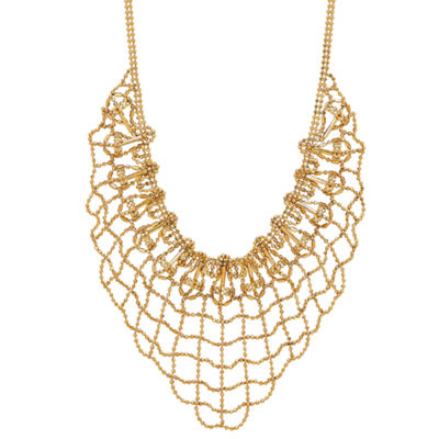 Limited Quantities! Womens 10K Gold Statement Necklace
