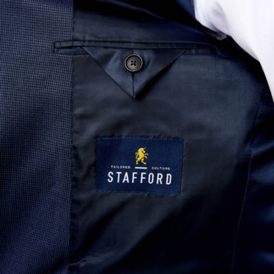 Stafford Year-Round Blue Tic Sport Coat-Classic