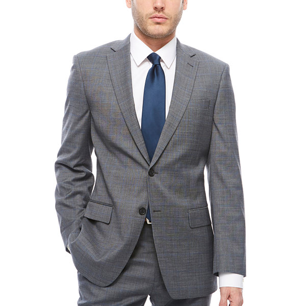 Claiborne-Slim Squares Slim Fit Stretch Suit Jacket