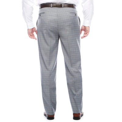 STF Travel Stretch Grey Blue Plaid FF Pants BT