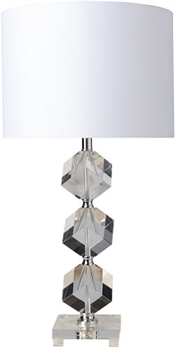 Décor 140 Anoka 14x14x27.75 Indoor Table Lamp - White