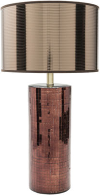 D??cor 140 Armiger 26.5x14x14 Indoor Table Lamp -Brown