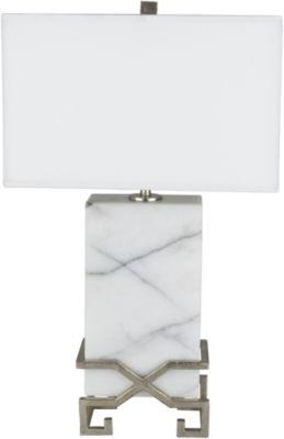 D??cor 140 Oglethorpe 16x16x26.75 Indoor PortableLamp - White