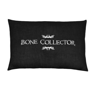 Bone Collector Black Throw Pillow