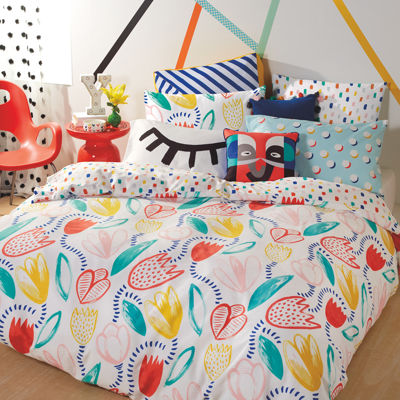 Scribble Tulip Duvet Cover Set