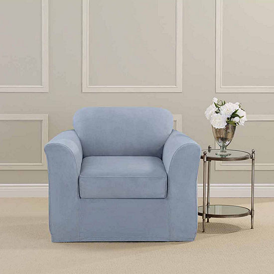 Sure Fit Ultimate Heavyweight Stretch Suede Chair Slipcover