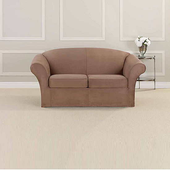 Enjoyable Sure Fit Ultimate Heavyweight Stretch Suede Individual Cushion Loveseat Slipcover Creativecarmelina Interior Chair Design Creativecarmelinacom
