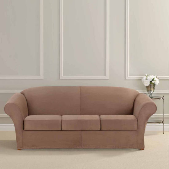Sure Fit Ultimate Heavyweight Stretch Suede 3 Cushion Separate Seat